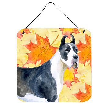 Harlequin Great Dane Fall Wall or Door Hanging Prints BB9904DS66