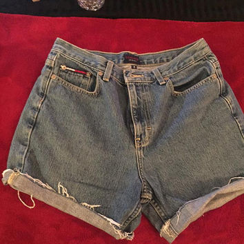 Tommy  Hilfiger high-waisted jean shorts