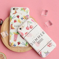 Summer Fruit mobile phone case for iphone 5 5s SE 6 6s 6plus 6s plus + Nice gift   box!
