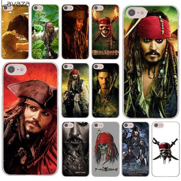 Lavaza Pirates of the Caribbean Johnny Depp Hard Cover Case for Apple iPhone 8 7 6 6S Plus 5 5S SE 5C 4 4S X 10 Coque Shell