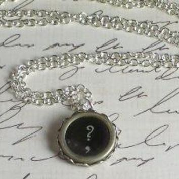 Old Becomes New Vintage Typewriter Key Necklace by SeizeTheNight