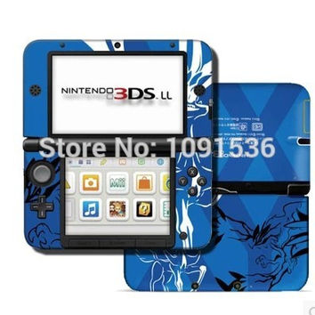Blue XY Game front&back Decal Skin Sticker for Nintendo 3DSLL Sticker for  3DS XL LL for 3DSLL