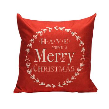 Christmas Letter Bed Home Festival Pillow Case Cover decorative throw pillows lovely