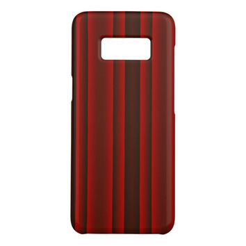 Red and Black Stripes Case-Mate Samsung Galaxy S8 Case