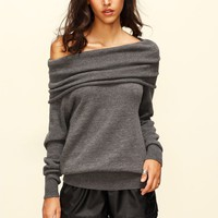 Convertible Cowl Neck Sweater
