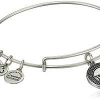 "Alex and Ani ""Sorority"" Kappa Kappa Gamma Expandable Rafaelian Silver Finish Wire Bangle Bracelet"
