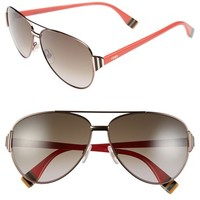 Women's Fendi 60mm Aviator Sunglasses