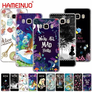 HAMEINUO Alice in Wonderland cover phone case for Samsung Galaxy J1 J2 J3 J5 J7 MINI ACE 2016 2015 prime