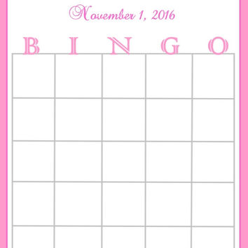 Pink Striped Baby Shower Bingo Cards