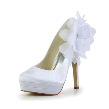 Jia Jia Women¡¯s Ladies Prom Bridal Wedding Shoes Size Women's Satin Stiletto Heel Closed Toe Platform Pumps