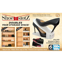 6-Pack Space-Saving Shoe Slotz™ Storage Units in Ivory