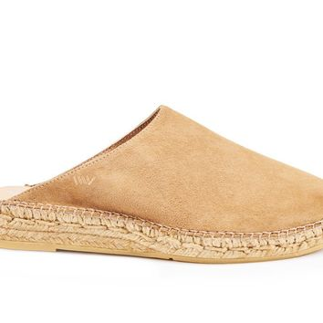 Masnou Suede Slip-on Mules - Camel Brown