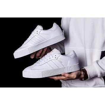 Adidas Outdoor Fashionable Women Men Leisure Sport Running Shoe Sneakers Flat Thick Sole Board Shoes White I-AA-SDDSL-KHZHXMKH