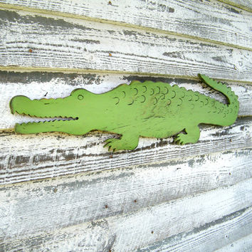 Gator Alligator Large Scale Preppy Wall Decor Zoo Jungle Wall Art Florida Alligator Nursery