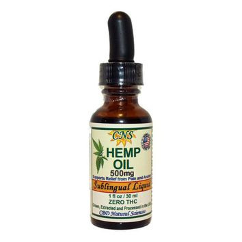 HEMP OIL Extract - No THC - Supports Relief from Pain, Nervousness and Anxiety - 500mg / 30ml