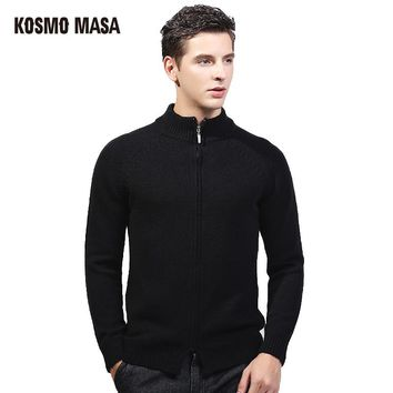KOSMO MASA 2017 Autumn Winter Cardigan Sweater For Men Brand Clothing Jumpers Jacquard Christmas Slim Fit Mens Sweaters SW0020