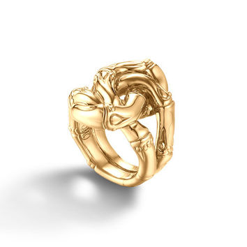 John Hardy bamboo collection knot ring