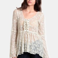 Luna Floral Lace Blouse By Black Swan