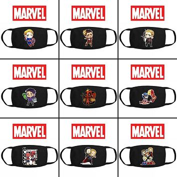 Deadpool Dead pool Taco OH Marvel Avengers Infinity War  Face Mask Camouflage Mouth-muffle Cotton Washable Trendy Mask Respirator Decor AT_70_6