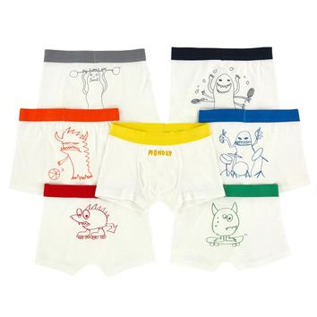 Stella McCartney Boys Monster Boxer Shorts Seven-Pack Gift Set