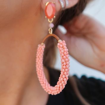 Where You Come From Earrings: Coral