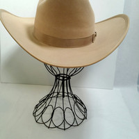 Cowboy Hat Tan Size Medium Excellent Eddy Bros Resistol Felt Cowboy Hat Size 7 1/8 - 7 1/4 Western Hat Square Dance Wear