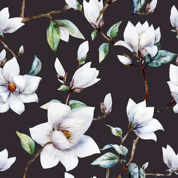 Vintage Magnolia Removable Wallpaper