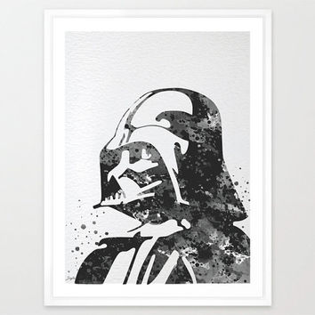 Darth Vader Star Wars Watercolor Art Print,Wall Art Hanging,Home Decor,Nursery/Kids Art,Fine Art Print,Motivational,Inspirational, #166