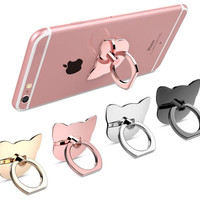 HOT NEW Kitty Cat or Square 360 Degree Phone Finger Ring