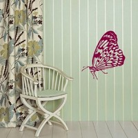 Wall Vinyl Decal Sticker Art Design Beautiful Tropical Butterfly Room Nice Picture Decor Hall Wall Chu533