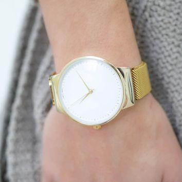 Just in Time Watch - Gold