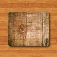 Brown Burnts Wood Wild Texture Mouse Pad Spruce Wooden Board MousePad Desk Deco Work Pad Mat Rectangle Personal Ecofriendly Sustainable Desk