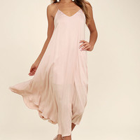 Lasting Memories Blush Midi Dress