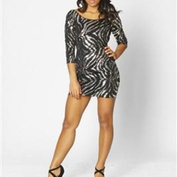 Glam Tiger Bodycon Dress