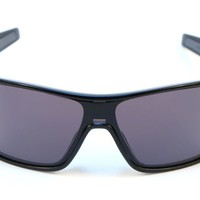 Oakley Turbine Rotor Sunglasses Polished Black Frame Warm Grey Lens OO9307-01