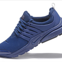 NIKE trend of running shoes casual shoes Dark blue
