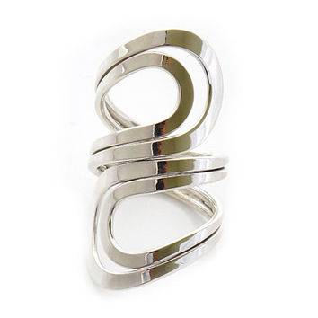 """Sterling Silver Ring   """"A better Solo Lola""""   Silver Jewelry   Silver rings for women   Stamped 925   Mexico Handcraft   Modern ring   0101"""