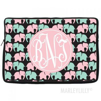 "Monogrammed Custom 14"" Laptop Case 