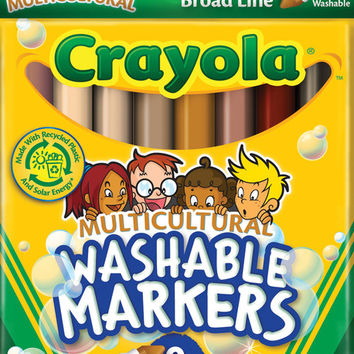 multicultural washable markers 8/pkg