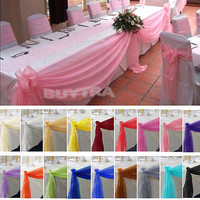 Adorable Table Swags Sheer Organza Fabric DIY Wedding Party Bow Decorations SL