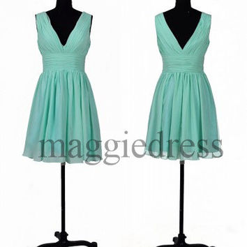 Custom Mint Short Bridesmaid Dresses 2014 New Short Bridesmaid Dresses Party Dresses Prom Dress Evening Dresees Wedding Party Dress