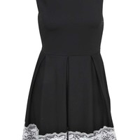 Emily Lace Trim Skater Dress