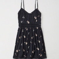 Womens Sheer Waist Skater Dress | Womens New Arrivals | Abercrombie.com