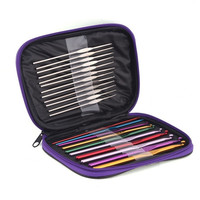 22pcs Weave Knits Tool Craft Knitting Needle Set Crochet Needle (Color: Multicolor) = 1958408900