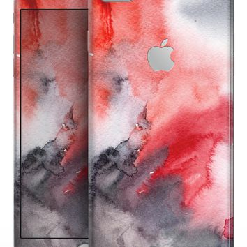 Red Pink 3 Absorbed Watercolor Texture - Skin-kit for the iPhone 8 or 8 Plus