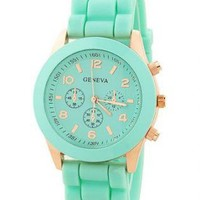 Candy Color Casual Sports Watch