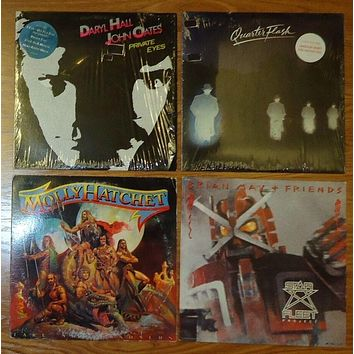 Record Album Qty 4 Molly Hatchet Hall Oates Quarter Flash Brian May -- Used