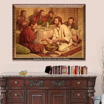 Jesus Christ Jesus Canvas Posters and Prints Wall Art Pictures for living room Home Decor cuadros decoracion Oil painting 106