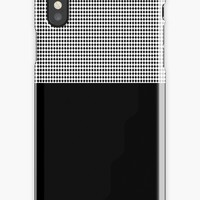 'Black And White Check' iPhone Case/Skin by Dizzydot