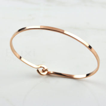 14k Rose Gold Filled Bangle Bracelet Cuff G